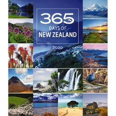 BrownTrout 2020 Deluxe Wall Calendar 365 Days In New Zealand