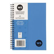 WS Notebook Wiro 200 Pages Hard Back Blue A5