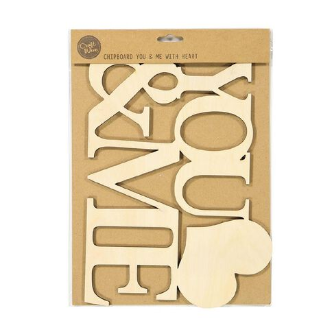 Uniti Chipboard You & Me with Heart