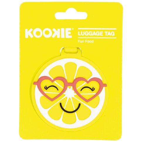 Kookie Silicone Luggage Tag Orange 7.5cm x 7.5cm