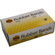 Marbig Rubber Bands 100g Packet #32 Brown
