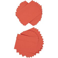Create With C6 Envelopes 25 Pack Red