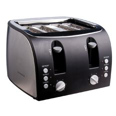 Living & Co Toaster 4 Slice Square Stainless Steel