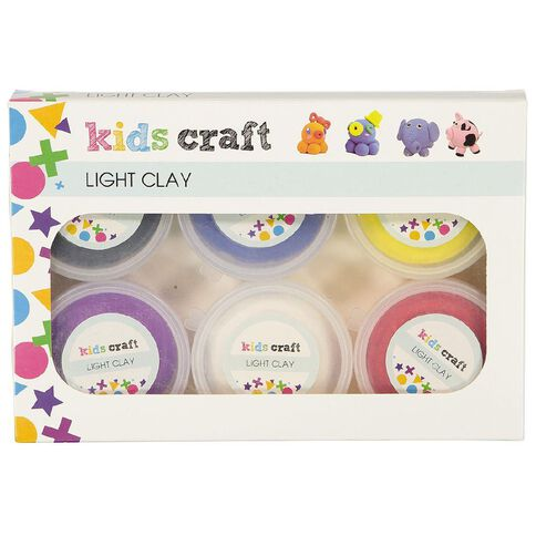 Kookie Light Clay Multi-Coloured 6 Pack