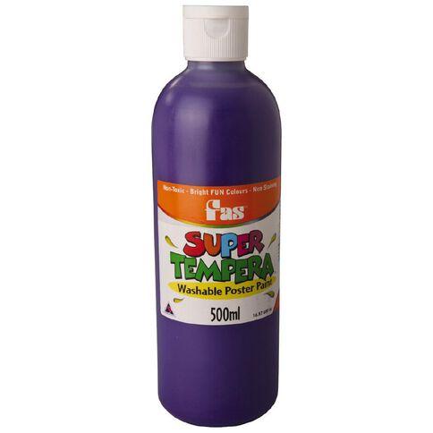 FAS Paint Super Tempera 500ml Violet Purple 500ml