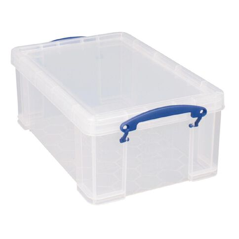 Really Useful Box Plastic Craft Storage 9L Clear