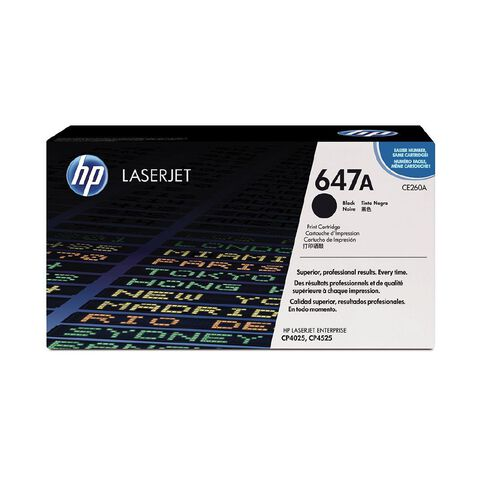 HP 647A Black Original LaserJet Toner Cartridge (8500 Pages)
