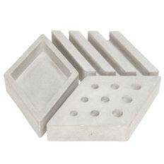 Banter Concrete Desk Tidy Grey