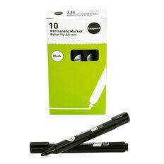 Impact Permanent Marker Bullet Tip 10 Pack Black