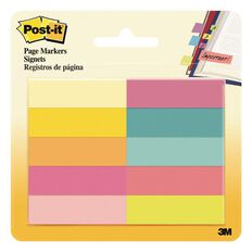Post-It Page Markers Assorted Bright Colours 10 Pads