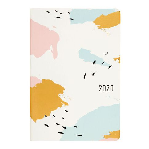 Dats Diary 2020 Week To View Soft PU Feel Assorted A6