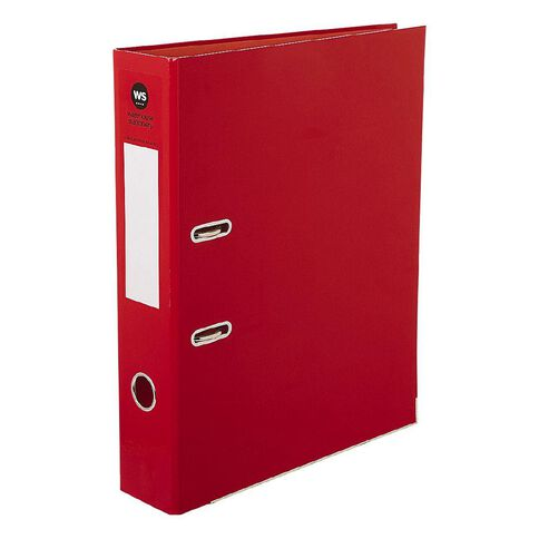 WS Foolscap Lever-Arch Red