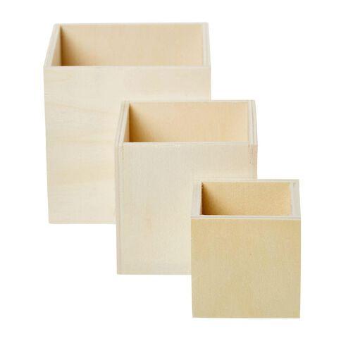 Uniti DIY Wood Cubes 3 Set