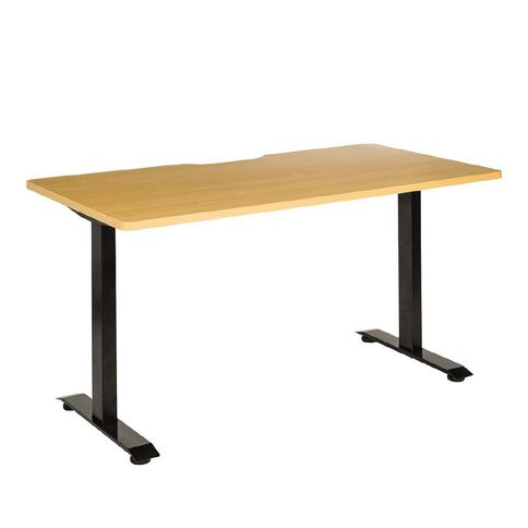Jasper J Emerge Straight Scallop Desk 1800 BlkBch