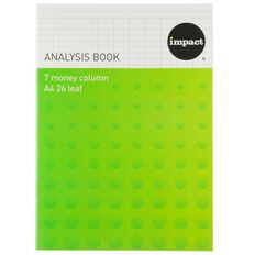 Impact Analysis Book Limp 7 Column Blue A4
