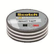 Scotch Washi Craft Tape 15mm x 10m Stripes Black