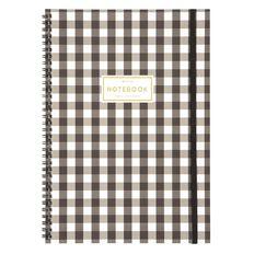 Uniti Spiral Notebook Black/Gold A4