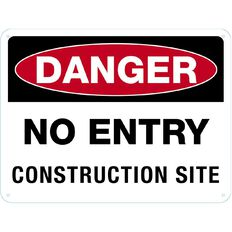 Impact Danger Do Not Enter Construction Sign Large 460mm x 610mm