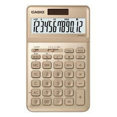 Casio JW200SCGD Desktop 12 Digit Calculator Stylish Gold