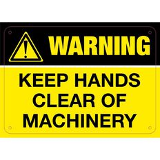 Impact Warning Keep Hands Clear of Machinery Sign Small 240mm x 340mm