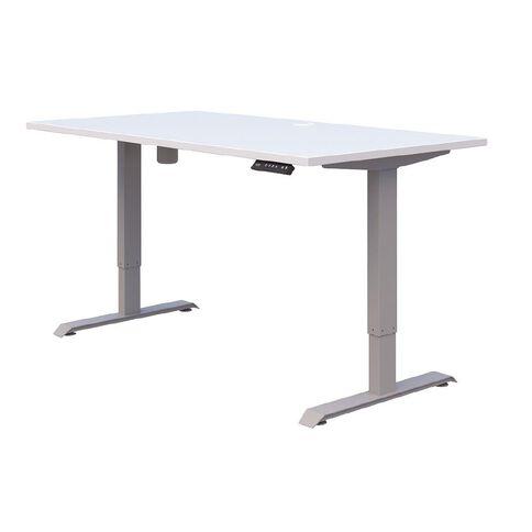 Accent Quick Ship Electric Desk Silver/Snow 1800 x 800