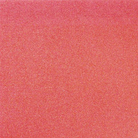 American Crafts Cardstock Glitter Medium 12 x 12 Neon Coral Pink