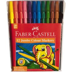 Faber-Castell Playsafe Washable Markers 12 Pack
