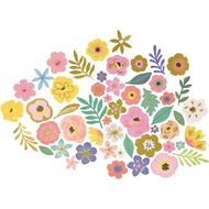 Rosie's Studio Lets Get Together Floral Diecuts 54 Piece Mix