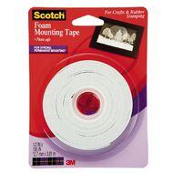 Scotch Foam Mounting Tape 12mm x 3.8m Clear