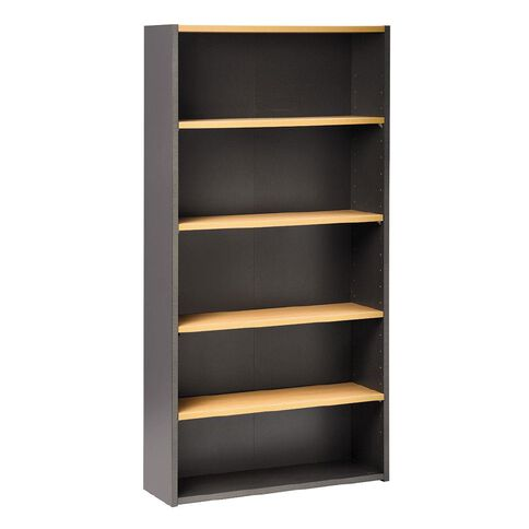 Jasper J Emerge Bookcase 1800 Beech/Ironstone