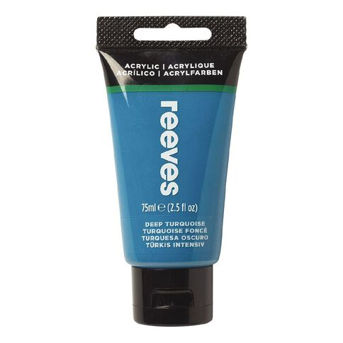Reeves Fine Acrylic Deep Turquoise 490 75ml Blue Mid 75ml