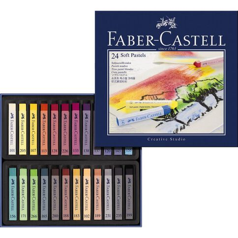 Faber-Castell Creative Studio Soft Pastels 24 Pack
