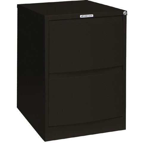 Precision Classic Filing Cabinet 2 Drawer Matt Black