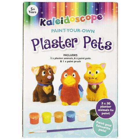 Kaleidoscope Plaster Kit Friendly Pets 3 Pack