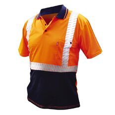 Esko Hi-Vis Safety Polo Shirt Reflective Orange Large