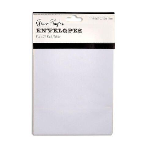 Grace Taylor Envelopes White C6 25 Pack White