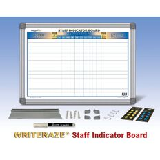 Writeraze Staff Indicator Magnetic 420 x 600mm White A2