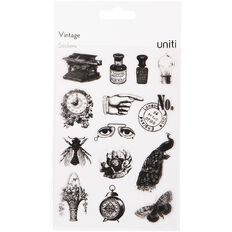 Uniti Vintage Stickers-Black
