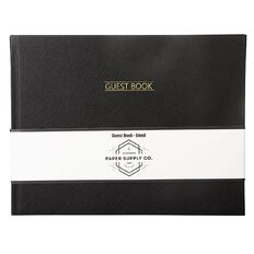 Paper Co Citta Guest Book Landscape Black