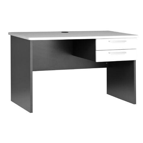 Jasper J Emerge Desk 1200 White/Ironstone