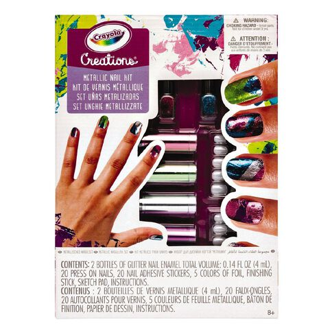 Crayola Creations Metallic Nail Design Kit