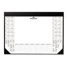 Durable Desk Mat With Calendar Pad Black A2