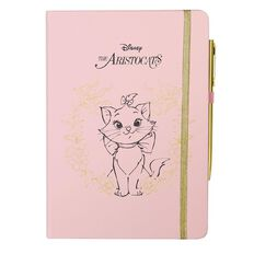 Disney Aristocats PU Notebook With Pen Pink A5