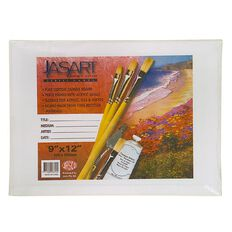 Jasart Canvas Board 9 x 12 White