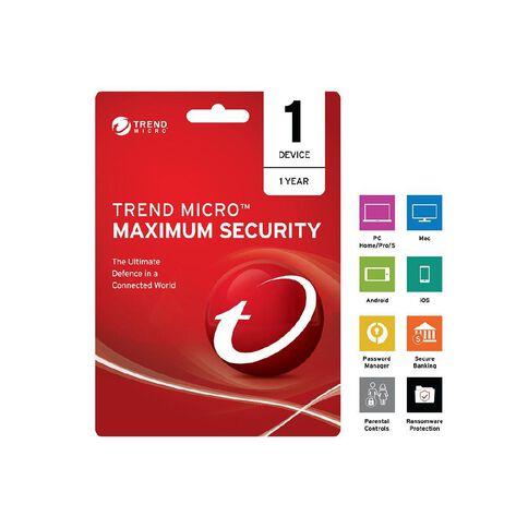 Trend Micro NZTMIS Maximum Security 2017 1D 1Y ESD