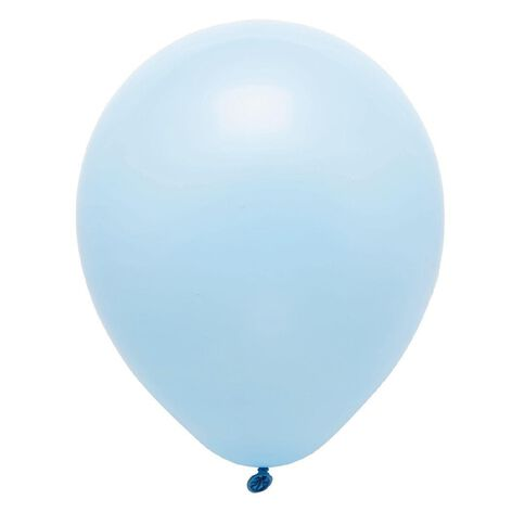 Party Inc Balloons Solid Colour Blue 25cm 25 Pack