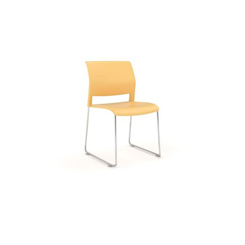 Game Chrome Skid Chair Daffodil Yellow