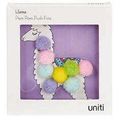 Uniti Llama Pom Pom Push Pins 5 Pieces