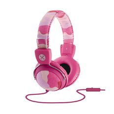 Moki Camo In-Line Mic Headphones Pink