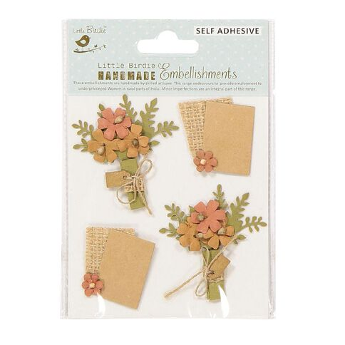 Little Birdie Shades of Brown Flower for You 4 Piece Kraft Expresstion